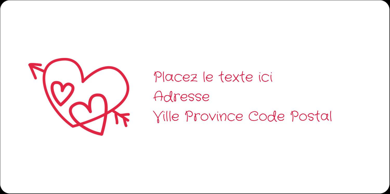 """3-7/16"""" x ⅔"""" Étiquettes de classement écologiques - Dessin de la Saint-Valentin"""