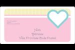 Cœur bleu Étiquettes de classement écologiques - gabarit prédéfini. <br/>Utilisez notre logiciel Avery Design & Print Online pour personnaliser facilement la conception.