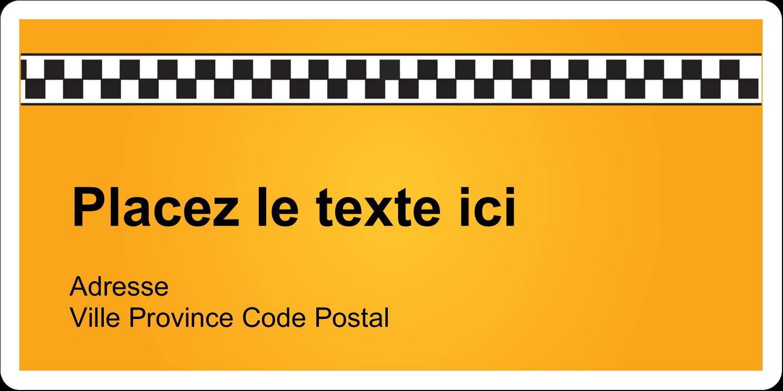 """2"""" x 4"""" Étiquettes d'expédition - Échiquier taxi"""