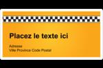 Échiquier taxi Étiquettes d'expédition - gabarit prédéfini. <br/>Utilisez notre logiciel Avery Design & Print Online pour personnaliser facilement la conception.