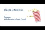 Popcorn et film Étiquettes de classement écologiques - gabarit prédéfini. <br/>Utilisez notre logiciel Avery Design & Print Online pour personnaliser facilement la conception.