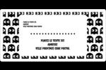 Fantômes Pac-Man d'Halloween Étiquettes de classement écologiques - gabarit prédéfini. <br/>Utilisez notre logiciel Avery Design & Print Online pour personnaliser facilement la conception.