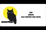 Chouette d'Halloween Étiquettes de classement écologiques - gabarit prédéfini. <br/>Utilisez notre logiciel Avery Design & Print Online pour personnaliser facilement la conception.