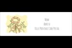 Dessin floral Intercalaires / Onglets - gabarit prédéfini. <br/>Utilisez notre logiciel Avery Design & Print Online pour personnaliser facilement la conception.