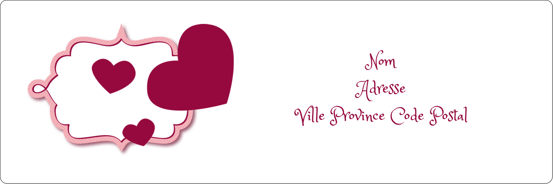 "8½"" x 11"" Intercalaires / Onglets - Bulles de Saint-Valentin"