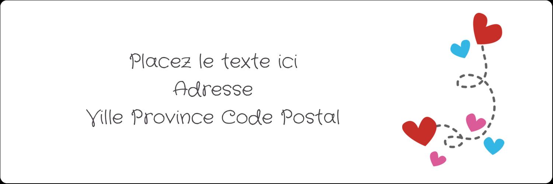 """8½"""" x 11"""" Intercalaires / Onglets - Saint-Valentin sur fond noir"""