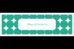 Cercles vert sarcelle Cartes de notes - gabarit prédéfini. <br/>Utilisez notre logiciel Avery Design & Print Online pour personnaliser facilement la conception.
