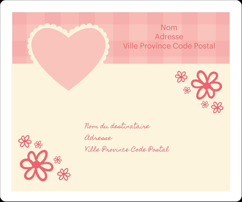 """½"""" x 1¾"""" Étiquettes D'Adresse - Guingan de la Saint-Valentin"""