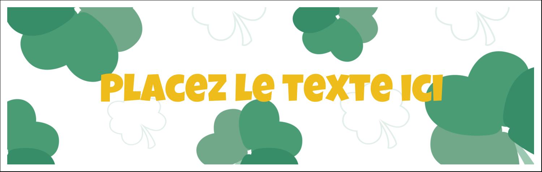 """4¼"""" x 5½"""" Cartes de notes - Trèfles en cœur de la Saint-Patrick"""