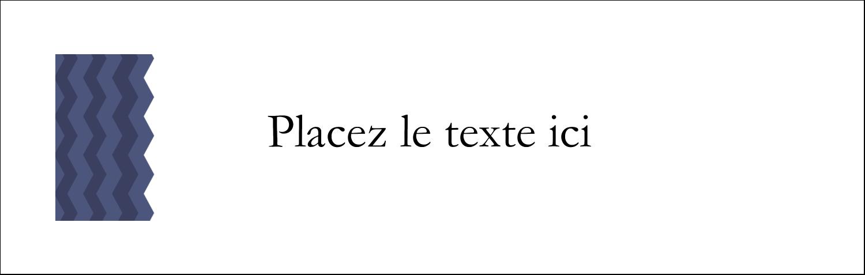 """4¼"""" x 5½"""" Carte de note - Chevron bleu"""