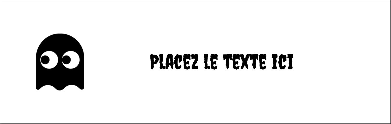 """4¼"""" x 5½"""" Carte de note - Fantômes Pac-Man d'Halloween"""