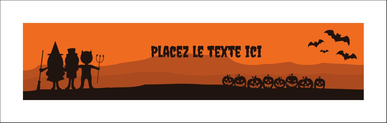"""4¼"""" x 5½"""" Carte de note - Enfants à l'Halloween"""