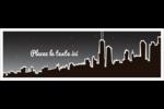 Ville nocturne Affichette - gabarit prédéfini. <br/>Utilisez notre logiciel Avery Design & Print Online pour personnaliser facilement la conception.