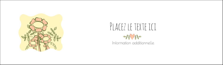 "3½"" x 11"" Affichette - Dessin floral"
