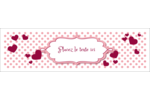 Bulles de Saint-Valentin Affichette - gabarit prédéfini. <br/>Utilisez notre logiciel Avery Design & Print Online pour personnaliser facilement la conception.