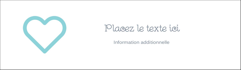 """3½"""" x 11"""" Affichette - Cœur bleu"""