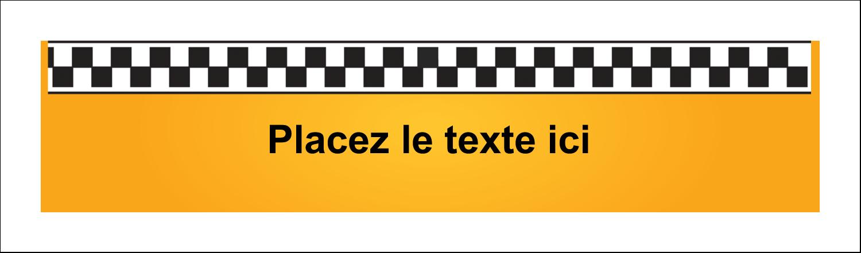 """2½"""" x 8½"""" Affichette - Échiquier taxi"""
