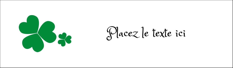 """3½"""" x 11"""" Affichette - Arrière-plan de trèfles de la Saint-Patrick"""