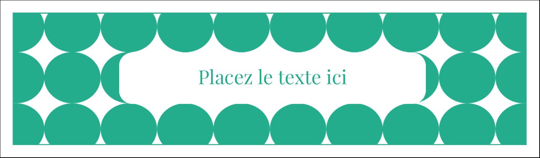"""3½"""" x 11"""" Affichette - Cercles vert sarcelle"""