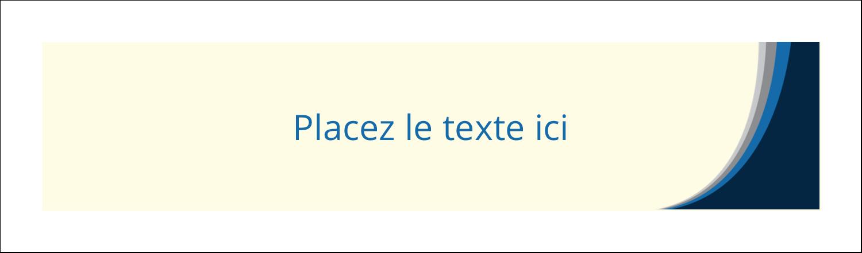 """3½"""" x 11"""" Affichette - Vague bleue"""