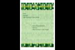 Hexagones verts Étiquettes d'expéditions - gabarit prédéfini. <br/>Utilisez notre logiciel Avery Design & Print Online pour personnaliser facilement la conception.