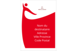 Danseuse rouge Étiquettes d'expéditions - gabarit prédéfini. <br/>Utilisez notre logiciel Avery Design & Print Online pour personnaliser facilement la conception.