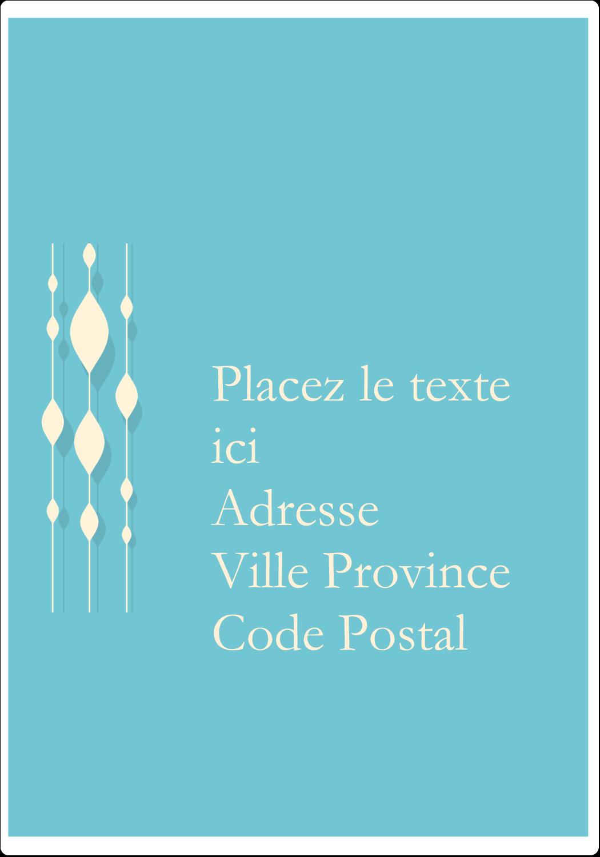 """⅔"""" x 1¾"""" Étiquettes D'Adresse - Rideau de perles bleues"""