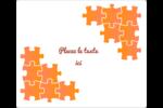 Casse-tête orange Étiquettes D'Identification - gabarit prédéfini. <br/>Utilisez notre logiciel Avery Design & Print Online pour personnaliser facilement la conception.