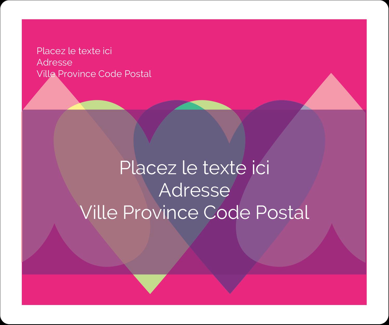 """½"""" x 1¾"""" Étiquettes D'Adresse - Rang de cœurs de la Saint-Valentin"""