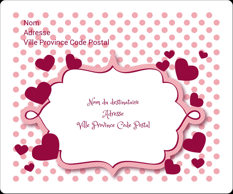 """½"""" x 1¾"""" Étiquettes D'Adresse - Bulles de Saint-Valentin"""