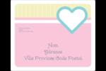 Cœur bleu Étiquettes D'Adresse - gabarit prédéfini. <br/>Utilisez notre logiciel Avery Design & Print Online pour personnaliser facilement la conception.