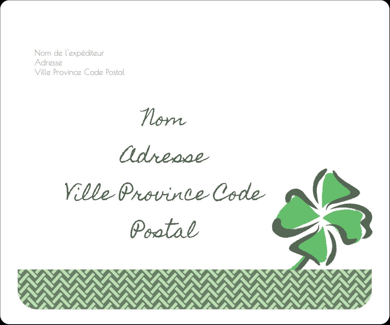 """½"""" x 1¾"""" Étiquettes D'Adresse - Trèfle de la Saint-Patrick"""