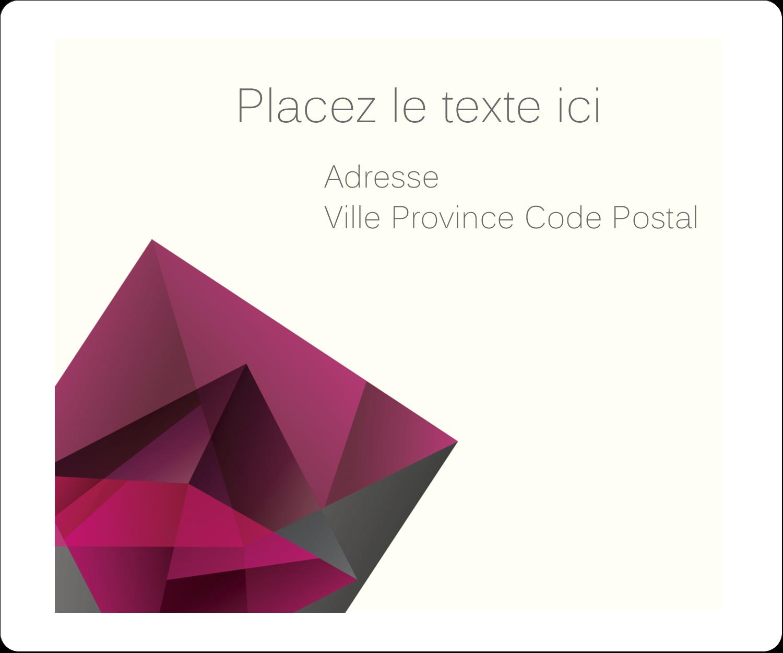 """½"""" x 1¾"""" Étiquettes D'Adresse - Pierres de rubis"""
