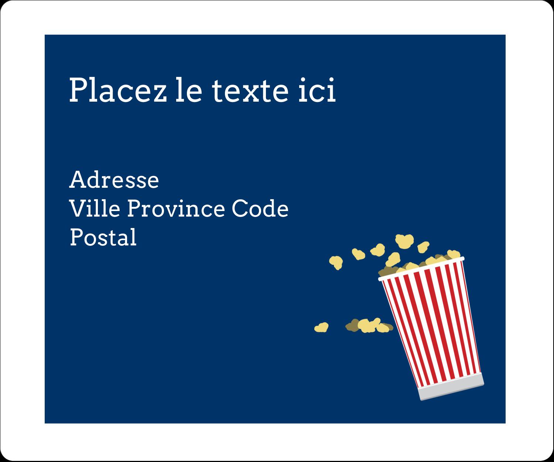 """½"""" x 1¾"""" Étiquettes D'Adresse - Popcorn et film"""