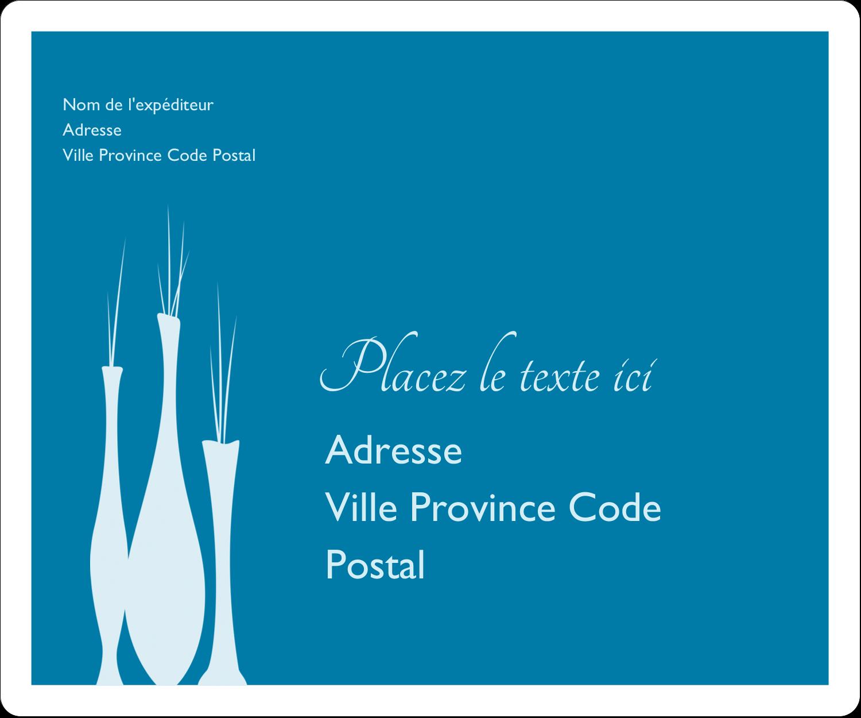 """½"""" x 1¾"""" Étiquettes D'Adresse - Vase design d'intérieur"""