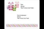 Quatre cadeaux Étiquettes d'expédition - gabarit prédéfini. <br/>Utilisez notre logiciel Avery Design & Print Online pour personnaliser facilement la conception.