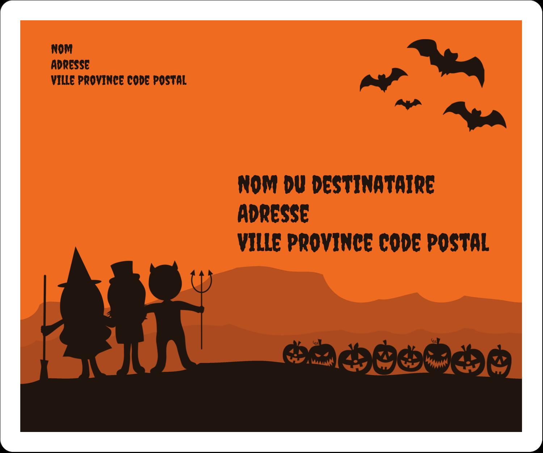 """½"""" x 1¾"""" Étiquettes D'Adresse - Enfants à l'Halloween"""