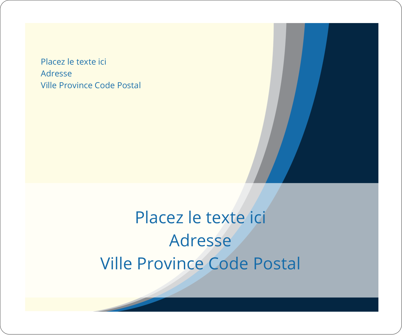 """½"""" x 1¾"""" Étiquettes D'Adresse - Vague bleue"""
