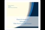 Vague bleue Étiquettes D'Adresse - gabarit prédéfini. <br/>Utilisez notre logiciel Avery Design & Print Online pour personnaliser facilement la conception.