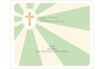 Croix pastel Étiquettes D'Adresse - gabarit prédéfini. <br/>Utilisez notre logiciel Avery Design & Print Online pour personnaliser facilement la conception.