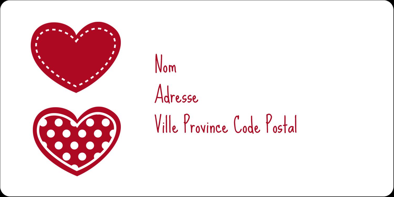 """3-7/16"""" x ⅔"""" Étiquettes de classement écologiques - Cœur de Saint-Valentin"""