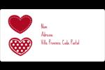 Cœur de Saint-Valentin Étiquettes de classement écologiques - gabarit prédéfini. <br/>Utilisez notre logiciel Avery Design & Print Online pour personnaliser facilement la conception.