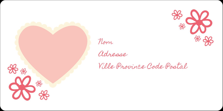"""3-7/16"""" x ⅔"""" Étiquettes de classement écologiques - Guingan de la Saint-Valentin"""