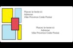 Carrés Mondrian rouges Étiquettes d'expédition - gabarit prédéfini. <br/>Utilisez notre logiciel Avery Design & Print Online pour personnaliser facilement la conception.
