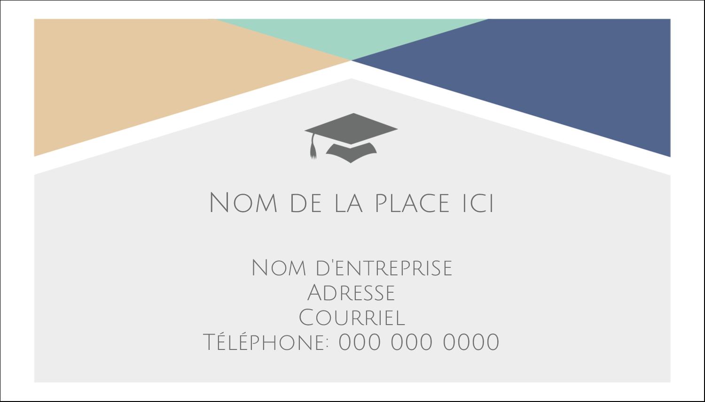 """2"""" x 3½"""" Carte d'affaire - Diplômes et couleurs"""