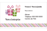 Quatre cadeaux Cartes d'affaires - gabarit prédéfini. <br/>Utilisez notre logiciel Avery Design & Print Online pour personnaliser facilement la conception.