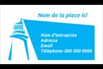 Phare bleu Cartes d'affaires - gabarit prédéfini. <br/>Utilisez notre logiciel Avery Design & Print Online pour personnaliser facilement la conception.