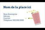 Popcorn et film Carte d'affaire - gabarit prédéfini. <br/>Utilisez notre logiciel Avery Design & Print Online pour personnaliser facilement la conception.