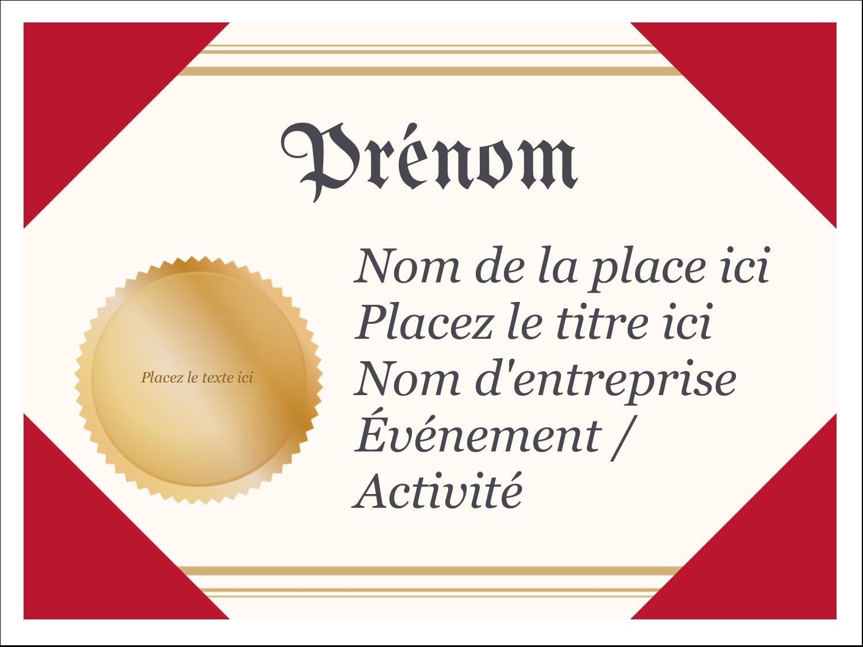 """3"""" x 4"""" Badges - Diplôme d'études"""