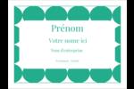 Cercles vert sarcelle Badges - gabarit prédéfini. <br/>Utilisez notre logiciel Avery Design & Print Online pour personnaliser facilement la conception.